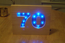 70, lit up